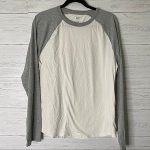 🌈 gap men's long sleeve raglan t shirt